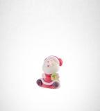 圣诞老人小雕象或圣诞老人背景的 库存照片