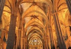 圣诞老人尤拉莉亚大教堂在巴塞罗那,西班牙 免版税图库摄影