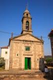 圣诞老人尤拉莉亚教会, O Pedrouzo,西班牙 库存图片