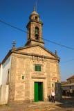 圣诞老人尤拉莉亚教会, O Pedrouzo,西班牙 免版税库存照片