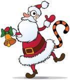 圣诞老人尾标老虎 库存图片