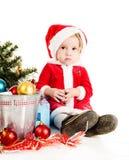 圣诞老人帮手女孩 库存图片