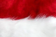 圣诞老人帽子背景 库存图片