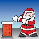 圣诞老人幽闭恐怖 库存图片