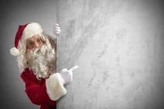 圣诞老人广告牌 图库摄影