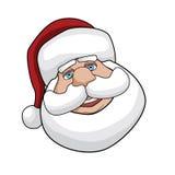 圣诞老人微笑的表面 库存照片