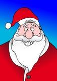 圣诞老人微笑 库存图片