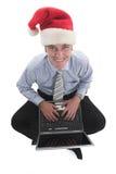 圣诞老人微笑 免版税库存照片