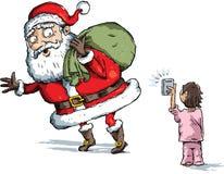 圣诞老人快照 库存图片