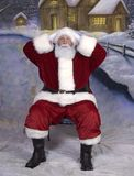 圣诞老人惊奇了 免版税库存照片