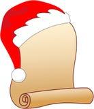 圣诞老人愿望的羊皮纸 免版税库存图片