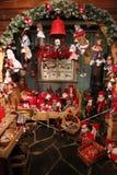 圣诞老人房子和邮局 图库摄影