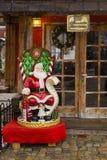 圣诞老人房子 库存图片