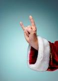 圣诞老人手照片在摇摆物姿态的 免版税库存照片