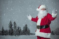 圣诞老人打手势 免版税库存照片