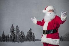 圣诞老人打手势 库存照片
