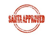 圣诞老人批准了红色不加考虑表赞同的人 免版税图库摄影