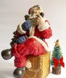 圣诞老人抽烟 库存照片