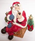 圣诞老人抽烟 免版税库存图片