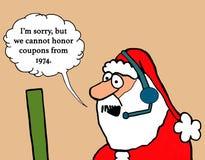 圣诞老人拒绝优惠券 库存例证