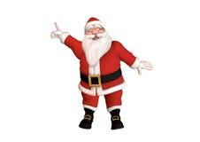 圣诞老人指向 库存图片