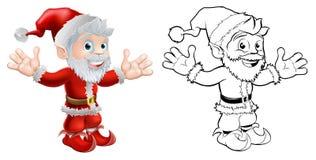 圣诞老人挥动 免版税图库摄影