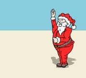 圣诞老人挥动 免版税库存照片