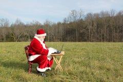 圣诞老人无线 免版税库存图片