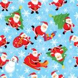 圣诞老人无缝的向量 库存图片