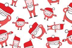 圣诞老人无缝的背景 向量例证