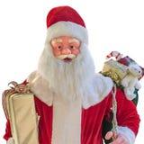 圣诞老人时装模特隔绝了白色背景 免版税图库摄影