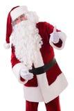 圣诞老人显示姿态 免版税库存照片