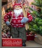 圣诞老人显示 图库摄影
