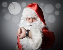圣诞老人晚 概念的晚 库存照片