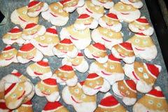 圣诞老人曲奇饼 库存图片