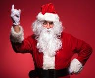 圣诞老人有一个好主意 图库摄影