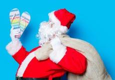 圣诞老人有举行触发器 库存图片