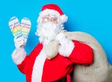 圣诞老人有举行触发器 免版税库存照片