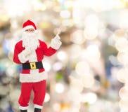 圣诞老人服装的人  库存图片