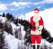 圣诞老人服装的人  库存照片