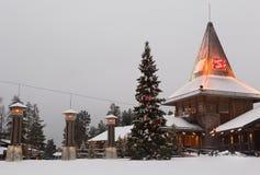 圣诞老人村庄在罗瓦涅米 免版税库存图片
