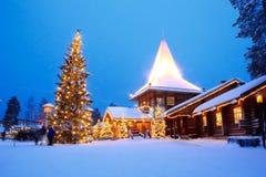 圣诞老人村庄 库存图片