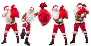 圣诞老人条目 免版税库存图片