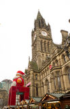 圣诞老人来到镇 免版税库存图片