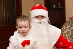 圣诞老人来参观 免版税库存照片