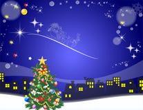 圣诞老人来临, 免版税库存图片