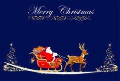 圣诞老人来临, 免版税库存照片