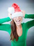 圣诞老人来 免版税图库摄影