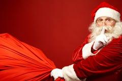 圣诞老人来 库存照片