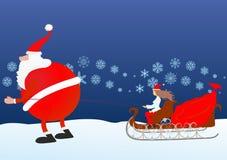 圣诞老人来临 免版税库存照片